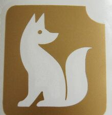 GT55 Body Art Temporary glitter Tattoo Stencil Fox