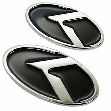 K Logo Hood Trunk accessories Emblems Badges 2EA Kia Rondo Carens 2007 2012