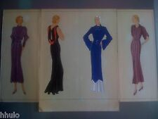 Mode Fashion Original paint peinture 1930 robe dress Femme Women Vermont & Cie 3