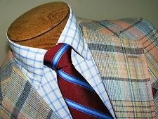 MENS SZ 38R 38S STANLEY BLACKER USA VTG PLAID BLAZER SPORTSCOAT SZ 38