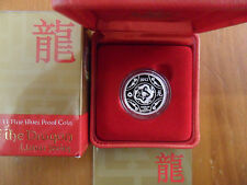 """2012 $1 Silver Proof: Lunar Series -  """"Year of the Dragon."""""""