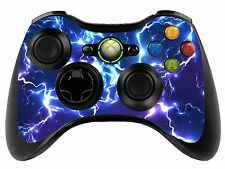 BLUE ELECTRIC XBOX 360 REMOTE CONTROLLER / Gamepad Pelle / coperchio / VINILE xbr22