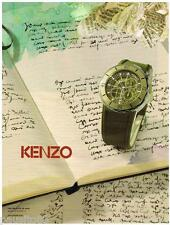 PUBLICITE ADVERTISING 095 2009  KENZO  collection montres
