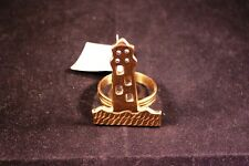 "Replacement 2.5"" Brass Lighthouse Napkin Ring"