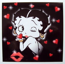 BETTY BOOP COLOUR VINYL STICKER, For Car, Wall, Laptop, Ipad (14 x 14cms)