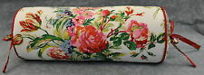 Ralph Lauren Belle Harbor White Floral Neck Roll or Bolster Pillow 16""