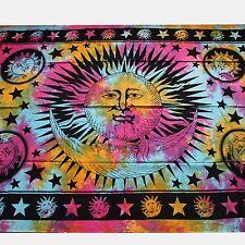 Colcha-arco iris-sol Colgante de pared Pañuelo decorativo Paño Manta India
