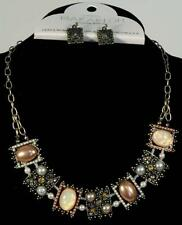 Pearls, Opals and Jewels Necklace/Earring Set - FREE SHIP
