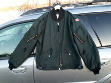 Canadian Air Force Flyers Flying Jacket Bomber Jacket Dark Green Size 7440