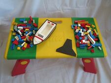 Retro LEGO Folding Table Sliding Compartments Play STation +140 legos Boat Shell