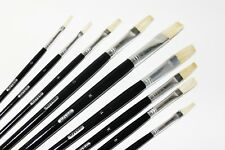 OIL PAINT BRUSH SET, 9 PCS, OIL AND ACRYLIC PAINTING, WOOD HANDLE, ART 3417