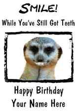 Meerkat A5 Personalised Happy Birthday Greeting Card PID021