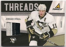 Jordan Staal 11-12 Panini Pinnacle Threads Prime Game Worn Jersey Patch /50