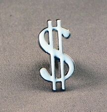 Metal Enamel Pin Badge Brooch Dollar Symbol Currency Money Silver Stock Trader