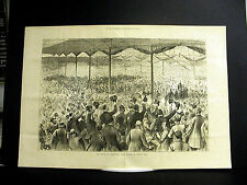 Birmingham Great Britain MR. BRIGHT at BINGLEY HALL 1883 Large Folio Engraving