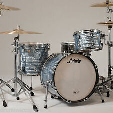 Ludwig Classic Maple Downbeat 3pc Drum Shell Pack Sky Blue Pearl * FREE SNARE