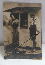 AK Fotokunst mit Spruch Hans und Liese gel. 1910