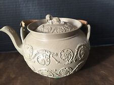 Antique Early 19Th C Wedgwood Caneware TEAPOT with Spaniel Finial Fantastic