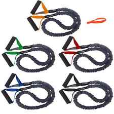 FITCORD 5 Pack Very Light-Very Heavy COVERED Resistance Bands 4' Fitness Tubes