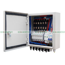 Safe 6 String Solar Combiner Box 10A Circuit Breakers Lightning/Surge Protection