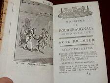 MOLIERE  OEUVRES ROUEN 1779  - M. de Pourceaugnac, Bourgeois gentilhomme... T.VI