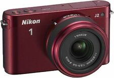Nikon 1 J2 10.1 MP HD Camera with 11-27.5mm f/3.5-5.6 Lens (Red)