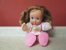 """Vintage 1989 Magic Nursery Baby 15"""" Doll Mattel Outfit Shoes Dress Toddler Girl"""