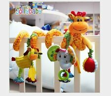 Baby Twisty Curly Spiral Activity Stroller Pram Cot Hanging Toys Giraffe Theme