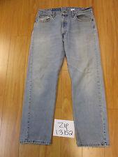 Levi 505 regular fit straight leg grunge jean tag 36x30 Meas 34x29 zip13152