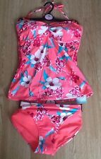 TU FLORAL PRINT TANKINI BIKINI 12 TOP & 12 OR 14 TIE SIDE BOTTOMS BNWT