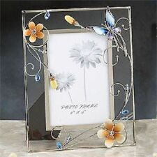 Butterfly Adorable Blue Crystal Glass Photo Frame