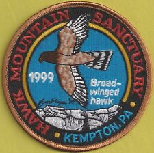 "Pa Pennsylvania Fish Game Commission 1999 Hawk Mt 4"" Broad-Winged Hawk Patch"
