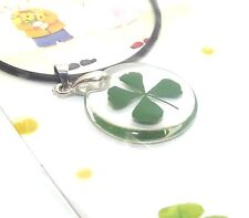 Four Leaf Clover Irish Shamrock Good Luck Pendant