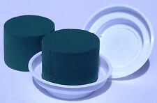 5 White Junior Bowls and 5 Cylinder Oasis Floral Foam