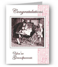 Congratulations You're Grandparents Nostalgic Greeting Card - New Baby
