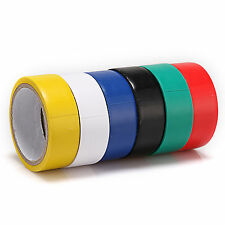 New Type 6 Roll each Color Electrical PVC Insulating Tape 17mm (W) x 300mm (L)