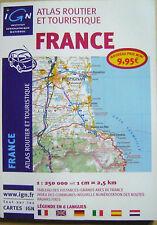 Atlas routier et touristique Carte de France légende en 6 langues /O21