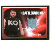 WWE Kevin Owens 2016 Topps RTWM Event Used Battleground Mat Relic Card SN121/199