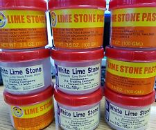 9 X Lime Stone Paste (White-Red-Regular /Chaux Blang)-3.5oz (Free Shipping)