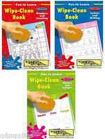 3 x A4 WIPE CLEAN EARLY LEARNING PRE-SCHOOL BOOKS SHAPES LETTERS NUMBERS 267FLWC