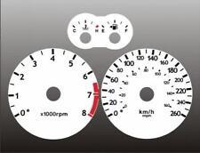 2003-2006 Tuscani Tiburon METRIC Dash Cluster White Face Gauges km/h kmh