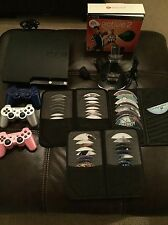 Sony PlayStation 3 Slim 320GB PS3, 42 game bundle with 3 controllers lot extras