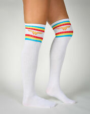 WONDER WOMAN Striped Over The Knee Long Socks DC Comics Brand New