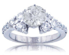 2.62 ct. TW Round Diamond Engagement Ring in F color SI-1 Clarity