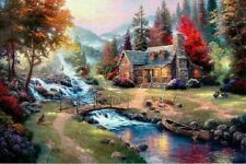 Art copy Oil Painting - Mountain Paradise on canvas
