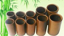 10 X Carbonization Cupping Cup Massage Bamboo Wood Acupuncture Fire Home Therapy