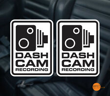 Dashcam decal pair 95x70mm / in car CCTV / Dashboard Camera Warning Stickers