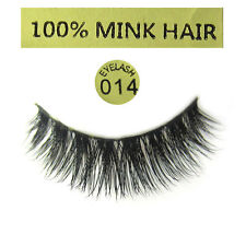HOT MY-014 luxurious 100% Real Mink Cross Thick False eyelash 3D fake eye lashes