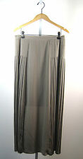 ISDA & CO Taupe Pleated Full Length Maxi Skirt Size 6
