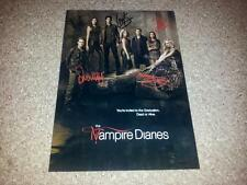 "THE VAMPIRE DIARIES CASTX5 PP SIGNED PHOTO POSTER 12"" X 8"" A4 IAN SOMERHALDER N2"